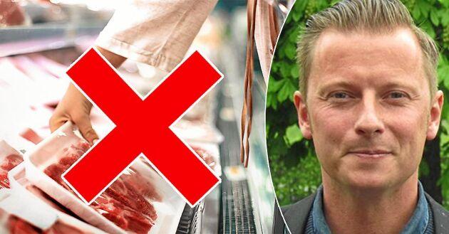 Carl-Johan Stålhammar, vd för Coop Gotland, har tagit initiativet till att stoppa inköp av utländskt kött i de nio butikerna på Gotland, för att stötta de svenska bönderna.