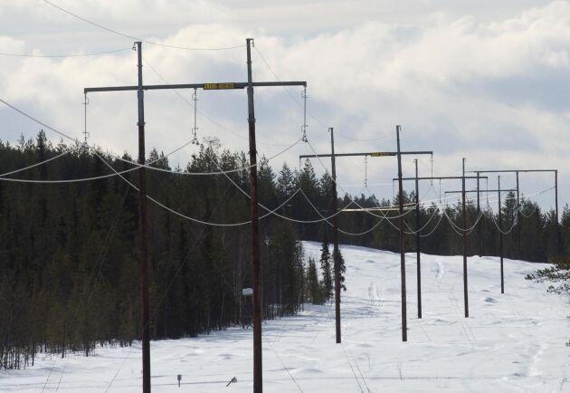 Energimarknadsinspektionen säger nej till ny elledning mellan Ekhyddan och Hemsjö. Arkivbild.