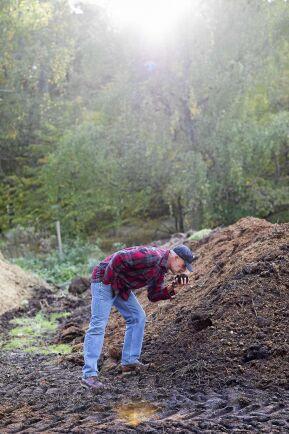 Grunden i en grävfri odling är en bra kompost.