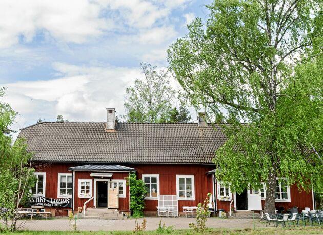 Caféet och antikaffären Tre århundraden är inrymda i den gamla skolan i Berga, som Affe och Thomas har totalrenoverat.
