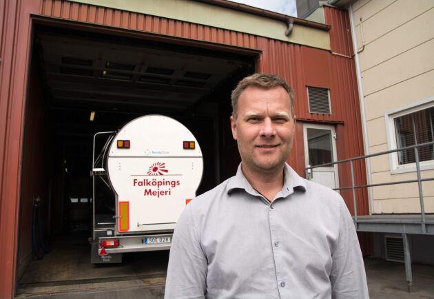 Anders Segerström, vd för Falköpings Mejeri.