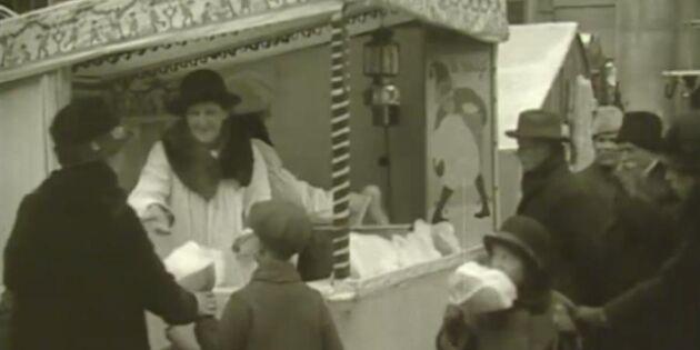 Såg julshoppingen annorlunda ut för 95 år sedan?