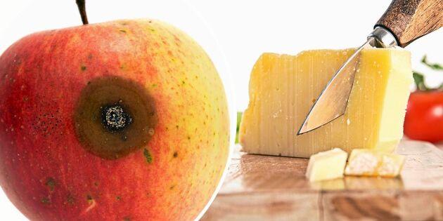 3 vanliga livsmedel som går att rädda - trots mögel