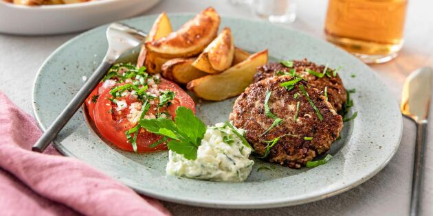 Köttfärsbiffar med fetaost – lättlagad smakfavorit
