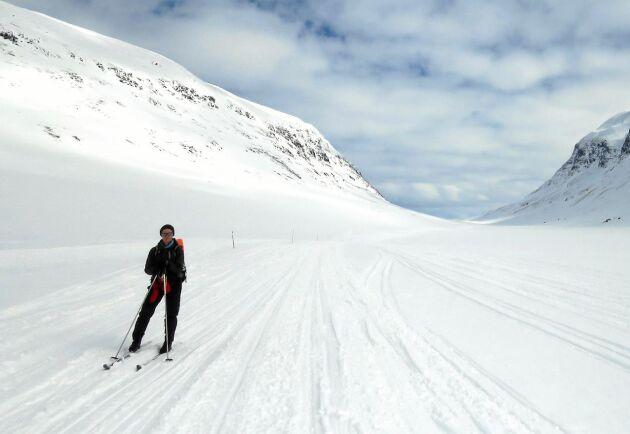 Syterdalen långt upp i Lappland kommer säkert fortsätta att vara snösäker på vintern. Men längre söderut blir det mer osäkert.