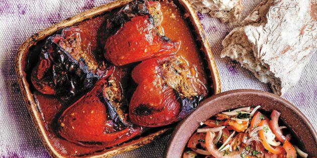 Fylld paprika med köttfärs