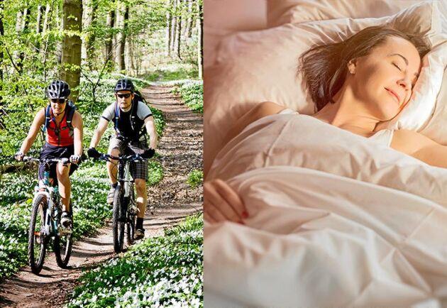 Om du är aktiv och ute i dagsljus så ökar dina chanser att sova bra på natten.
