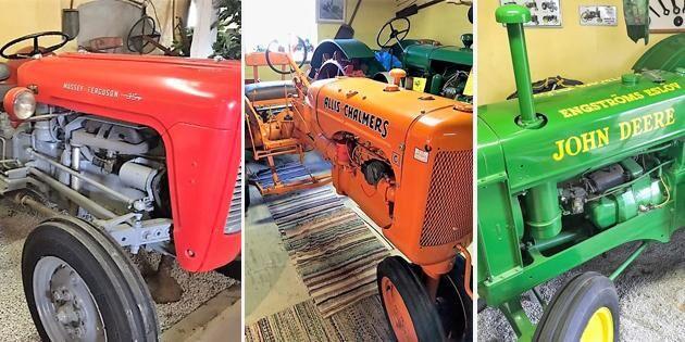 Över 50 veterantraktorer på auktion