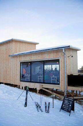Huset är byggt av norrländsk kärnfuru, ekologisk isolering av pappersfibrer från gamla tidningar drevat med lin.