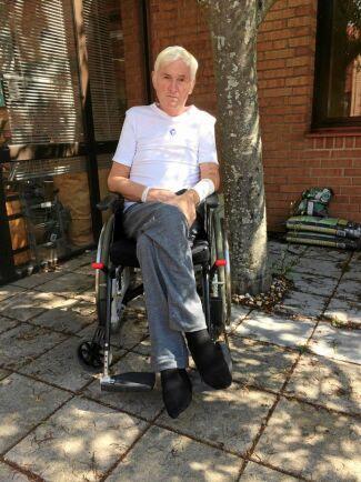 När Olle kom hem efter 68 dagar på sjukhus var han svag, men tacksam över den fina vården och familjens osvikliga stöd.