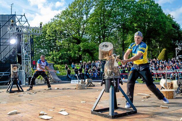Ferry Svan avancerade vidare till kvartsfinal i sista grenen Standing Block Chop.
