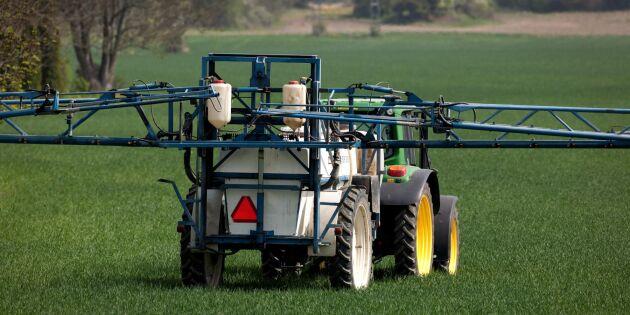 Forskare: Stor spridning av växtskyddsmedel