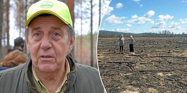 Björn förlorade sitt livsverk i branden 2018 – så ser skadorna ut i dag