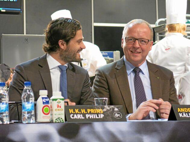 """""""Jag var med i juryn för Årets Kock tillsammans med prins Carl Philip. Han är otroligt intresserad av lantbruk och mat""""."""