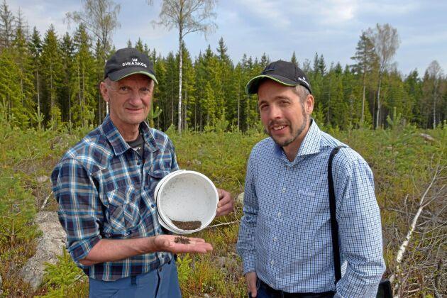 Det gäller att vara snabb och effektiv för att stoppa granbarkborrarna säger Kjell Gustavsson och Johan Ekenstedt på Sveaskog.