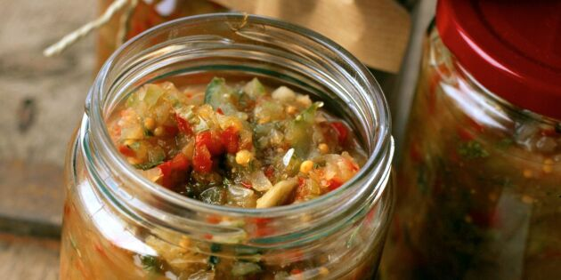 Kiviksgurka med fänkål och äpple