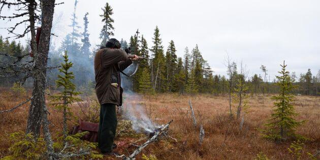 Övningsskytte på egen jaktmark kan begränsas