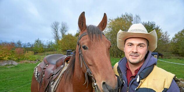 Westernryttaren Moreno har ridit in 800 hästar