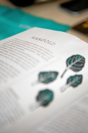 Inspirerande recept i kokboken som erbjuds alla andelsägare.