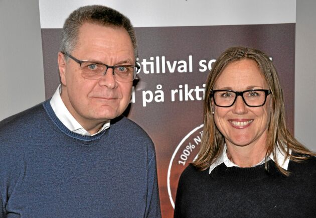Bengt Carlsson på Bixia och kommunikationskonsult Malin Thorsén.