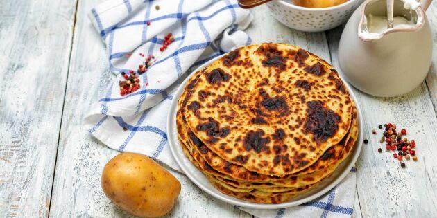 Läfsa – norskt tunnbröd med potatis