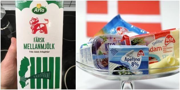 Arla betonar det svenska – men importen ökar