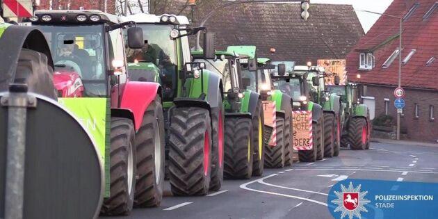 Tysk traktorprotest: Politikerna måste lyssna på lantbrukarna