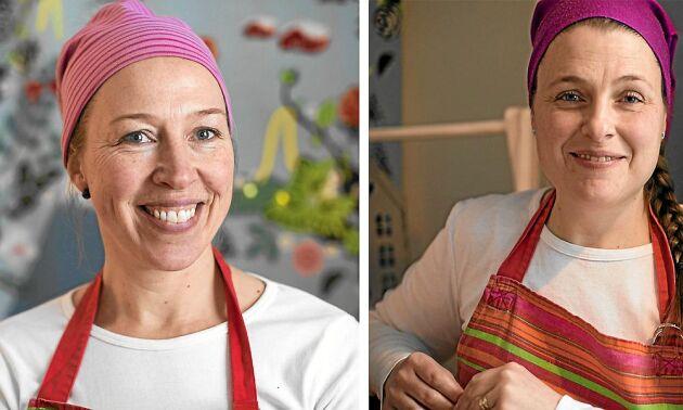 Madeleine Nilsson och Ulrika Sundin är båda kreativa och idérika och gillar att utveckla sitt företag.