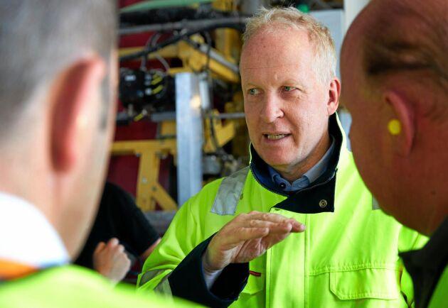 – Pilotproduktionen bekräftar att vi kan producera materialet mycket effektivt och i stor skala, säger Lars Sandberg.