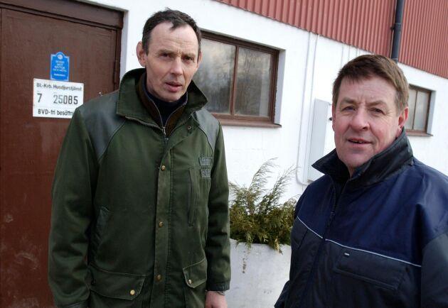Arkivbild: Lars Nilsson, till höger, är ordförande för Villands arrendatorsförening.