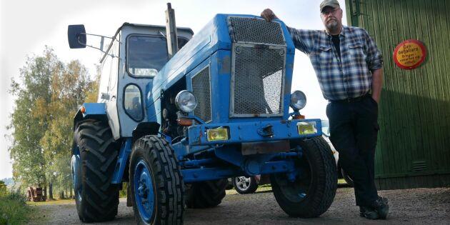 Han vurmar för östtyska traktorer