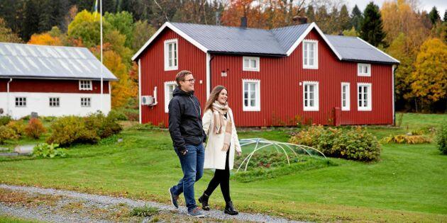 """Fredrik och Victoria tar över släktgården från 1743: """"Det känns stort att vara fjortonde generationen"""""""