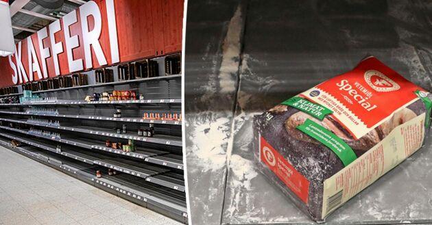 Coronakrisen har lett till brist på jäst och mjöl i många butiker.