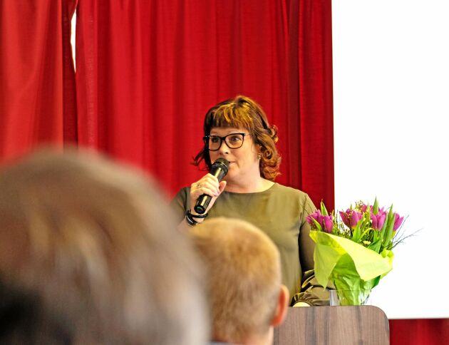 Lotta Folkesson fick nytt förtroende som ordförande för LRF Västerbotten.
