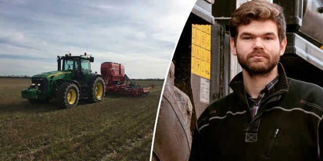 De driver CA-jordbruk på 2100 hektar