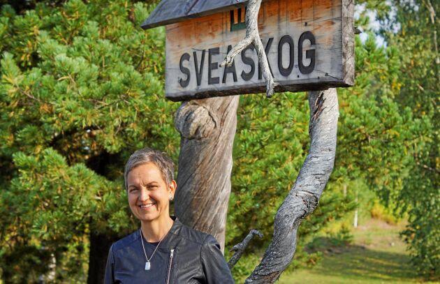 Hannele Arvonen, Sveaskogs VD, meddelar att de öppnar nytt kontor i Norrbotten.