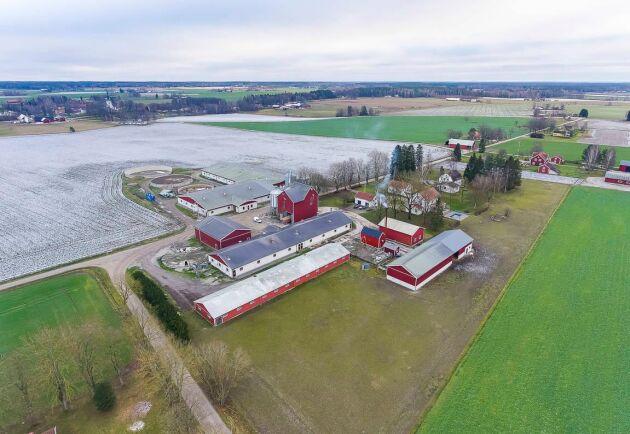 Förutom tre bostäder på 110-350 kvadratmeter finns det bland annat plats för 3 500 grisar och blötfoder- och gödselvårdsanläggningar på Falla gård utanför Örebro...