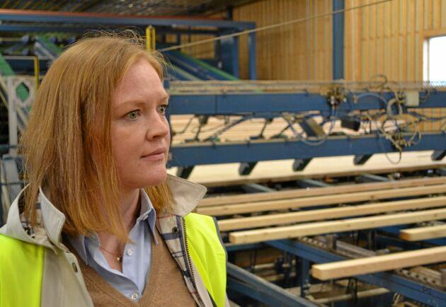 """""""Efterfrågan på kärnved ökar, bland annat från Norge"""", säger Maria Rylander."""