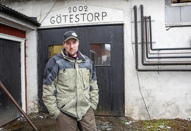 Andreas Markusson och hans bror Mattias tog över driften på familjegården för 10 år sedan och har dubblerat besättningen sedan dess.