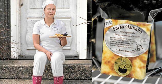 Mejeristen Joanna Hildingsson brinner både för sitt eget mejeri, Forsa gårdsmejeri, och sin älskade hembygd.