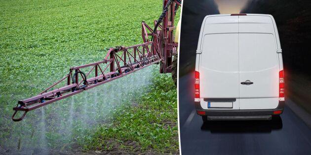 Lantbrukare bestulna på växtskyddsmedel
