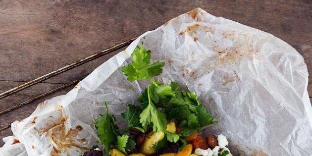 Färgsprakande persisk potatis