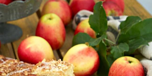 Långpannebullar med äpple och kardemumma