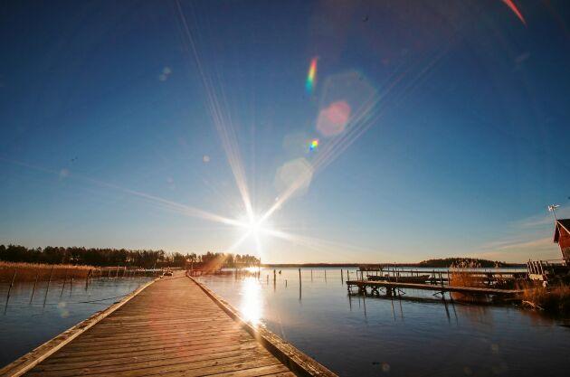 Hammarö, söder om Karlstad, bjuder på härlig skärgårdsmiljö.