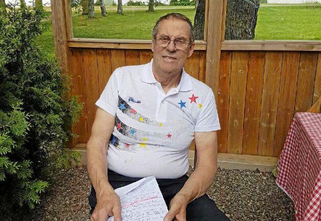 Rune Andersson är arrangör för Sveriges starkaste bonde. På sin gård utanför Mellerud arrangerar han träningsläger.