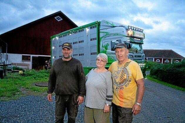 Hans och Birgitta Andersson med sonen Martin.