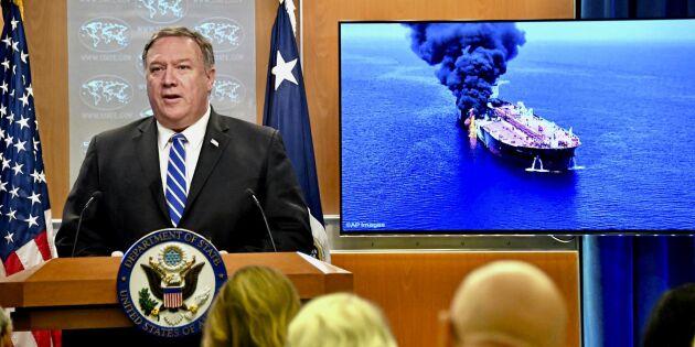 Oljepriset rusar efter attack mot tankfartyg