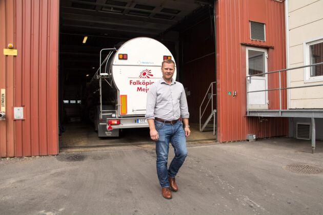 Falköpings Mejeris vd Anders Segerström sätter målet att visa plusresultat 2017.