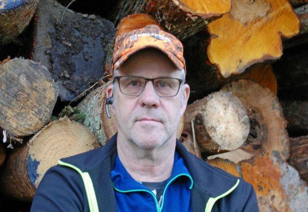 Kolbjörn Kindströmer, vice ordförande för Skogsentreprenörerna, hoppas att samtalen med Stora Enso och andra skogsbolag ska få upp lönsamheten för hans medlemmar.
