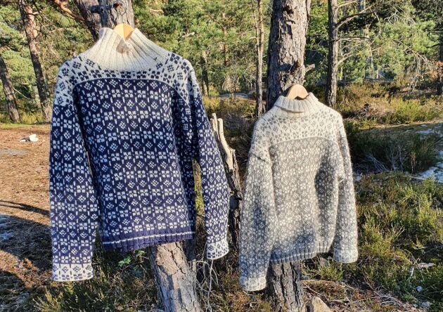 Du stickar tröjan med ett mjukt ullgarn, omsorgsfullt tillverkat av Yllet som producerat kvalitetsgarner i ull i snart 40 år.